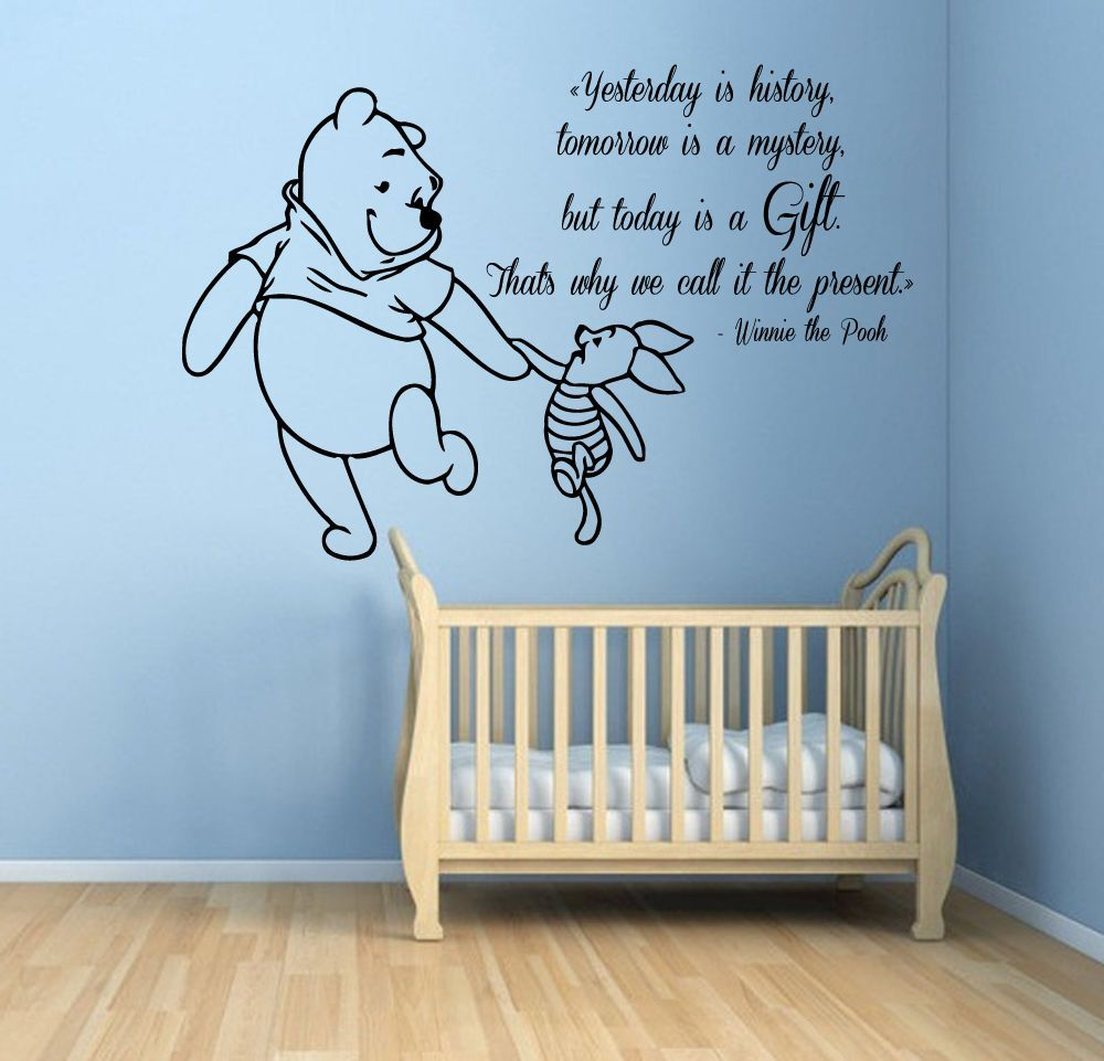 Wall decals piglet winnie the pooh quotes vinyl sticker kids room wall decals piglet winnie the pooh quotes vinyl sticker kids room decor kg662 amipublicfo Images