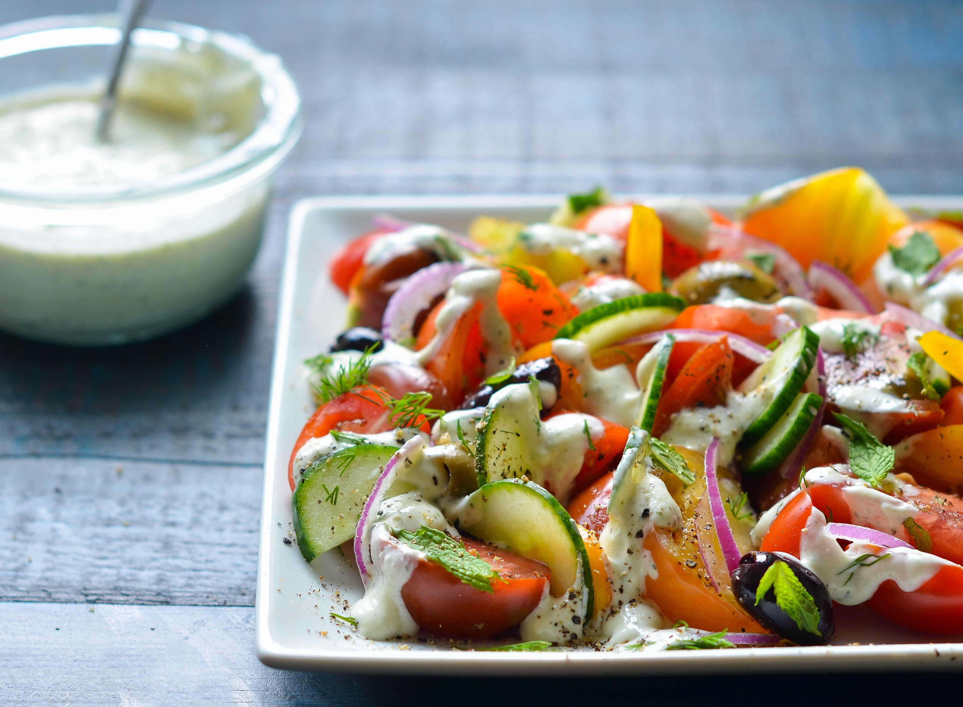 Creamy Feta Dressing Once Upon A Chef Recipe Creamy Salad Dressing Recipes Salad Recipes