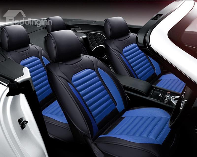 full set black blue Car seat covers fit Kia Picanto