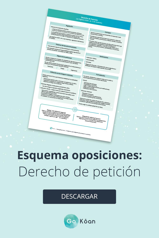 Esquema Oposiciones Derecho De Petición Oposicion Esquemas Peticiones