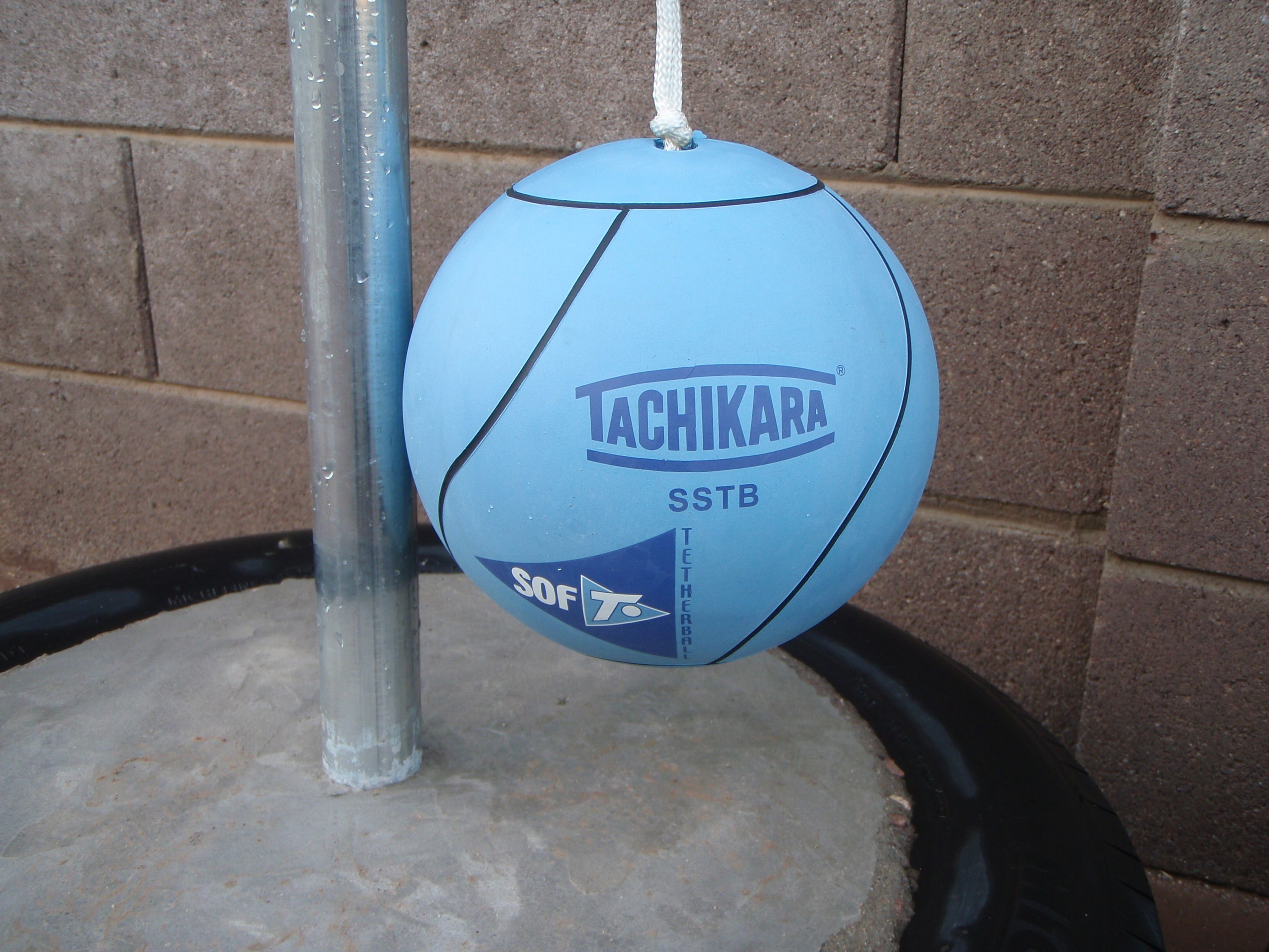 Making Your Own Tire Tetherball Set Up About 45 For Supplies At Lowe S Plus Your Tire Tetherball Backyard Fun