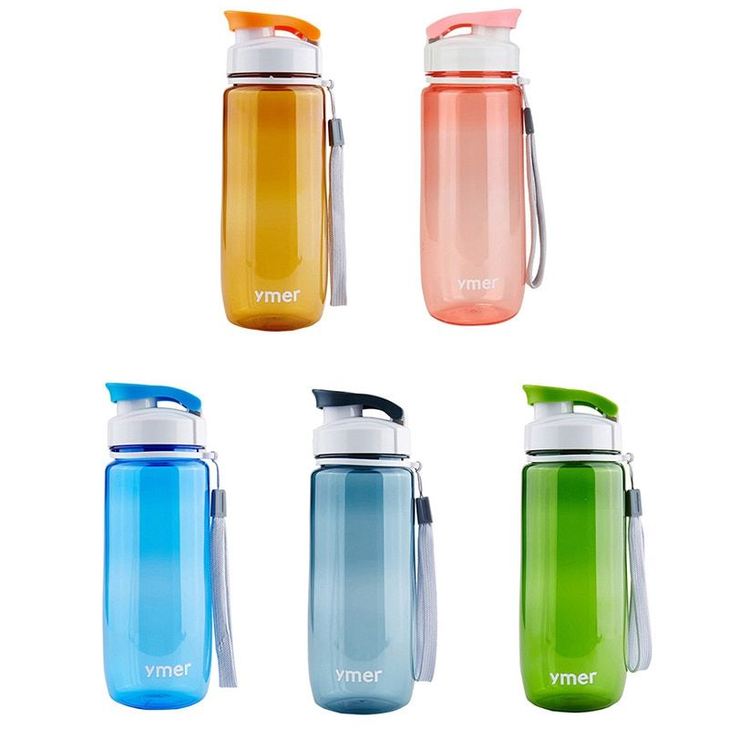 560ml or 590ml Plastic Water Bottle Simple Design Leak-proof Portable Sports Travel Space wd02
