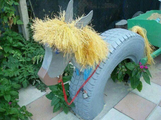 Pferd aus Autoreifen u2026 Pinteresu2026 - alte autoreifen deko