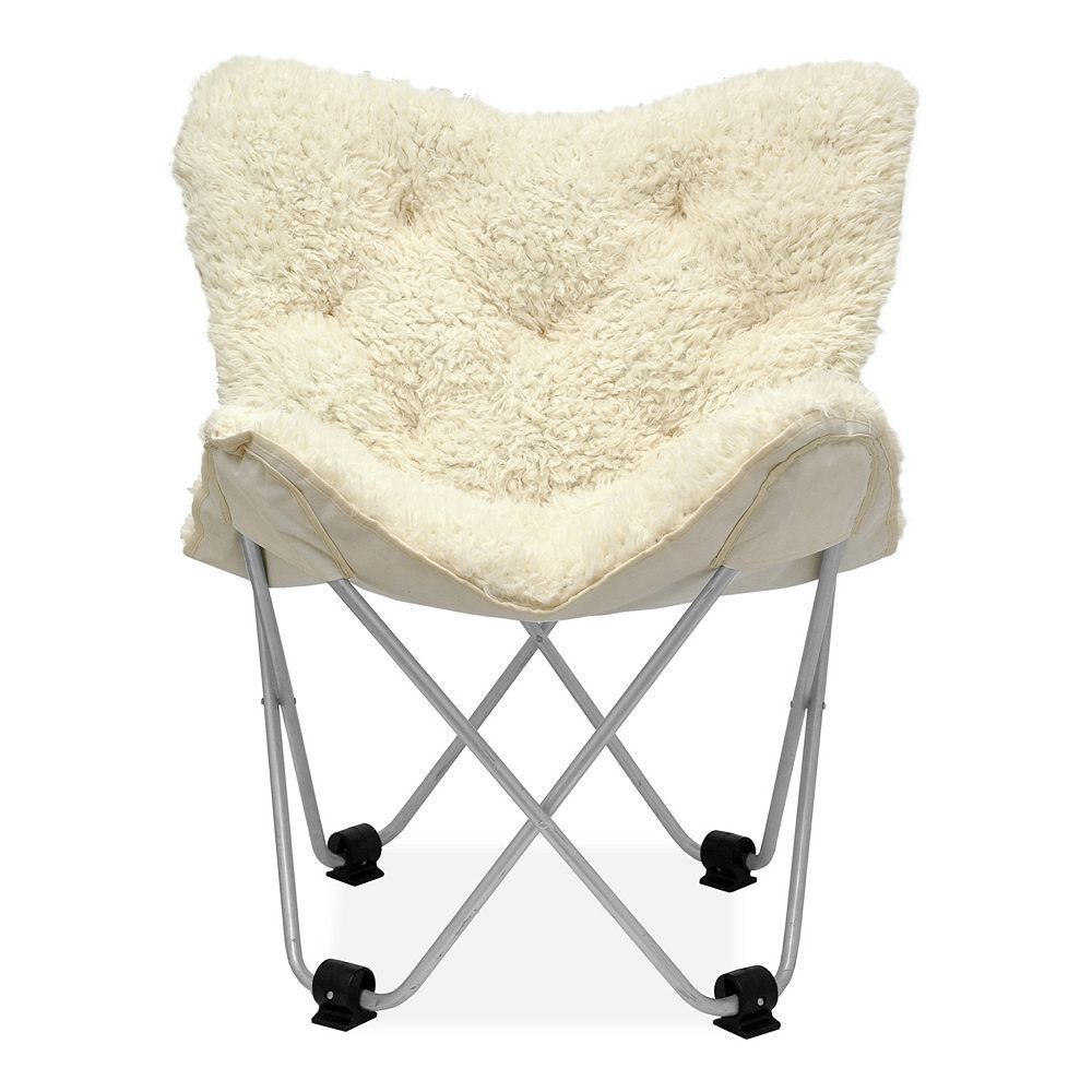 Fur Butterfly Chair Urban Shop Amelia Mongolian Faux Fur Butterfly Chair