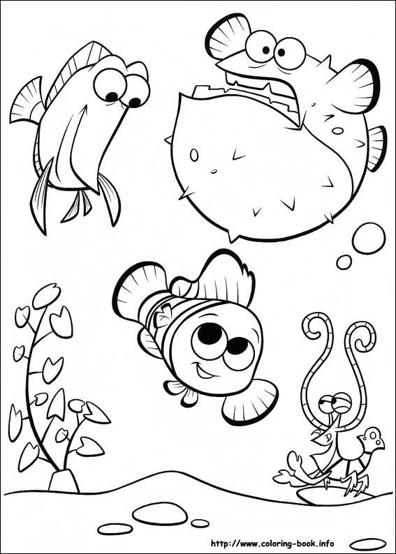 finding nemo coloring picture disney coloring pages pinterest finding nemo adult coloring