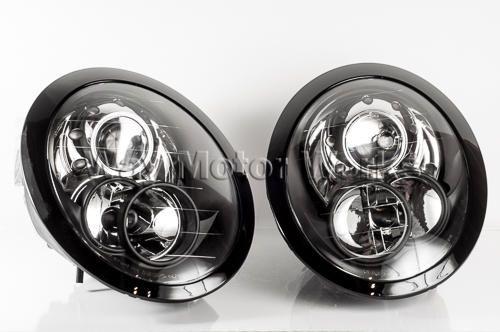 Black Headlight Set R50 R52 R53 Mini Cooper Accessories Black Headlights 2006 Mini Cooper