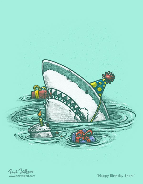 f3d4f8091027a shark with birthday hat - Google zoeken