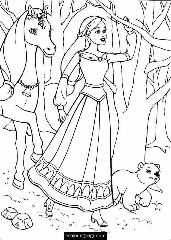 Princess Looking Unicorn Coloring Pages Barbie Coloring Pages Barbie Coloring