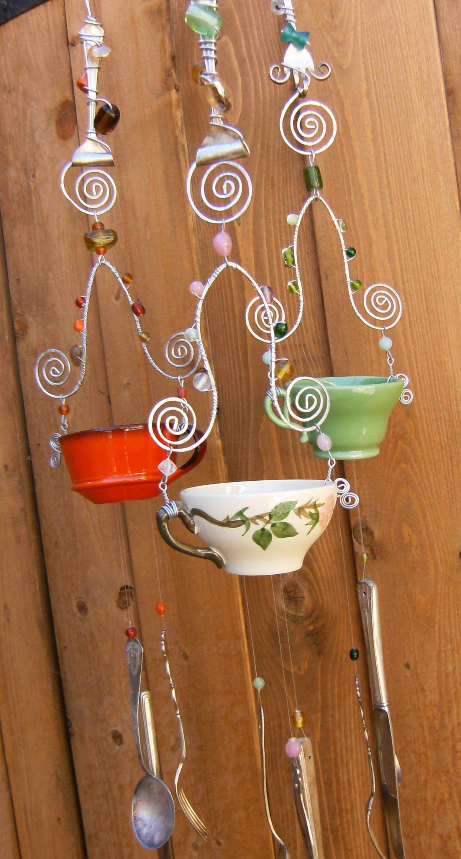 DIY Tea Cup Wind Chime Wind chimes, Diy wind chimes, Tea diy