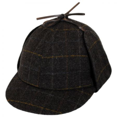 Windowpane Plaid Wool Sherlock Holmes Hat