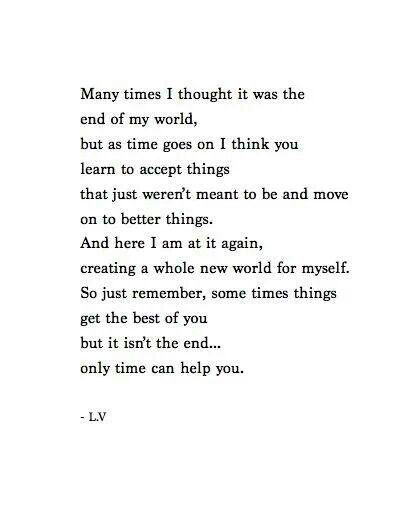 Many times i thought