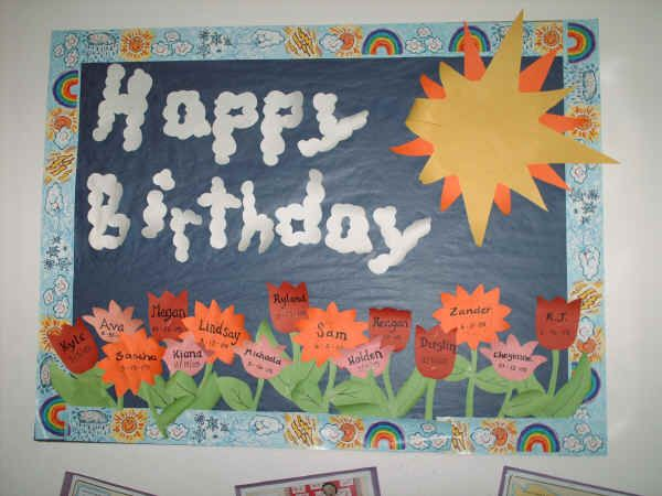 Birthday Board Ideas for Toddlers Happy Birthday Bulletin Board