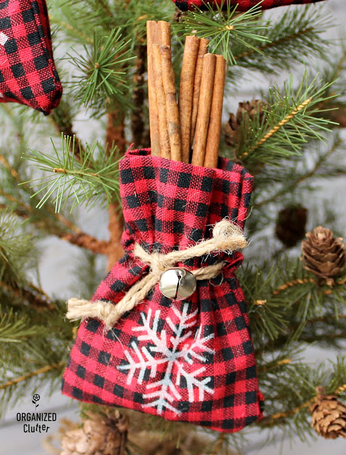 Dollar General Rustic Mini Bag Ornaments Easy ornaments