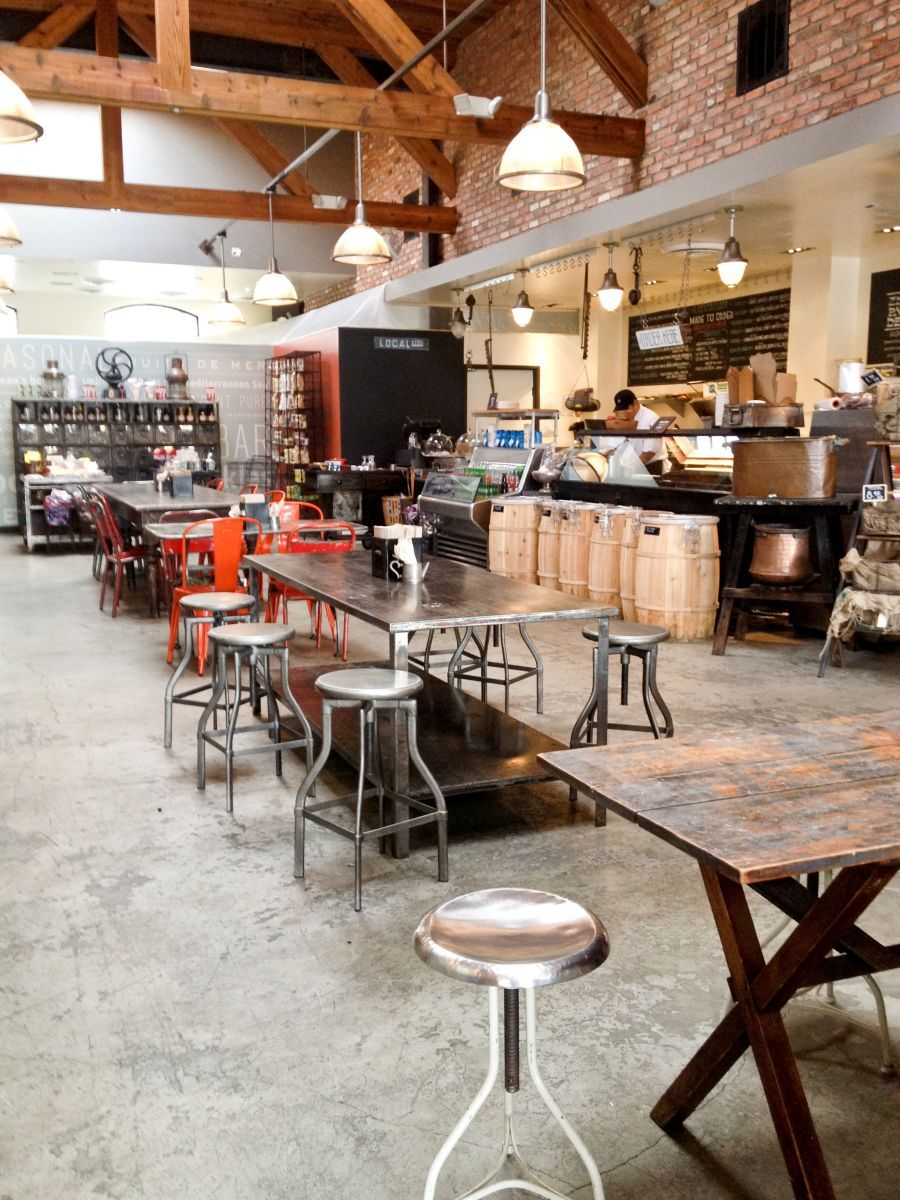 Restaurant Keuken & Deli Concrete Floors Industrial Feel Cafe Restaurant Interior