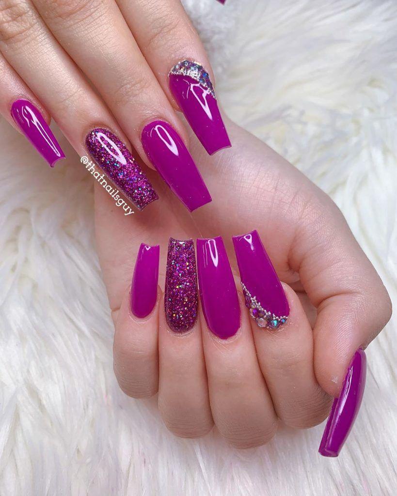 20 Impressive Purple Nail Art Designs Ideas Letmebeauty Net Purplenails Nailart Purplenail Manicure Purple Nail Art Designs Purple Nails Magenta Nails