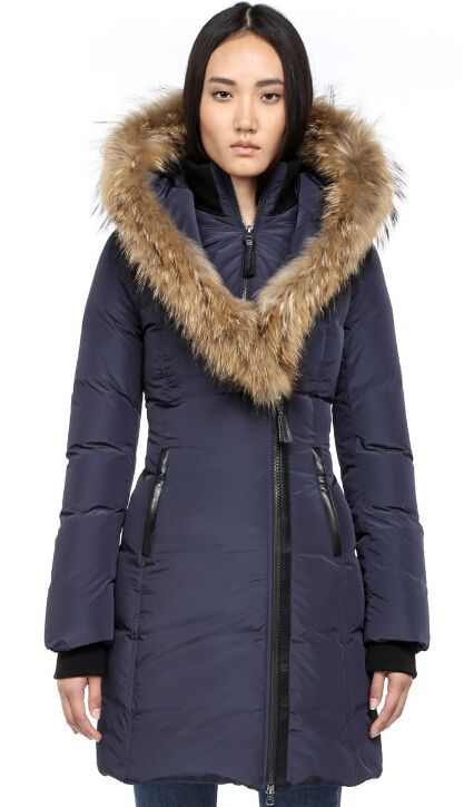 Mackage Winter Coats Kay-F4 Ladies Fur Hood Parka In Navy ...