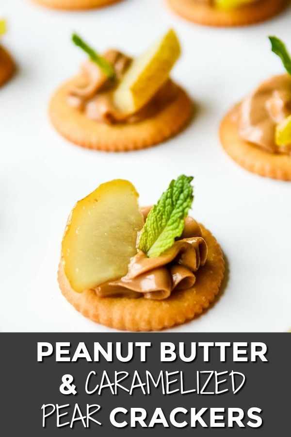 Peanut Butter, Caramelised Pears and Mint RITZ Cracker