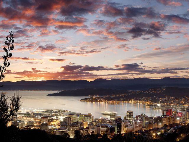 Vista do Mount Victoria, o ponto mais alto de Wellington