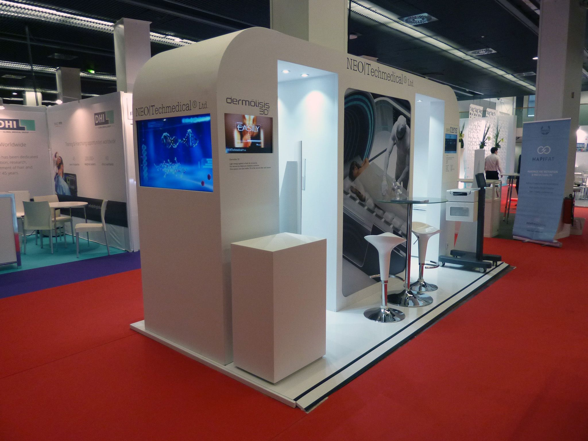 Exhibition Stand Medical : Advanced neotech medical stand at imcas and
