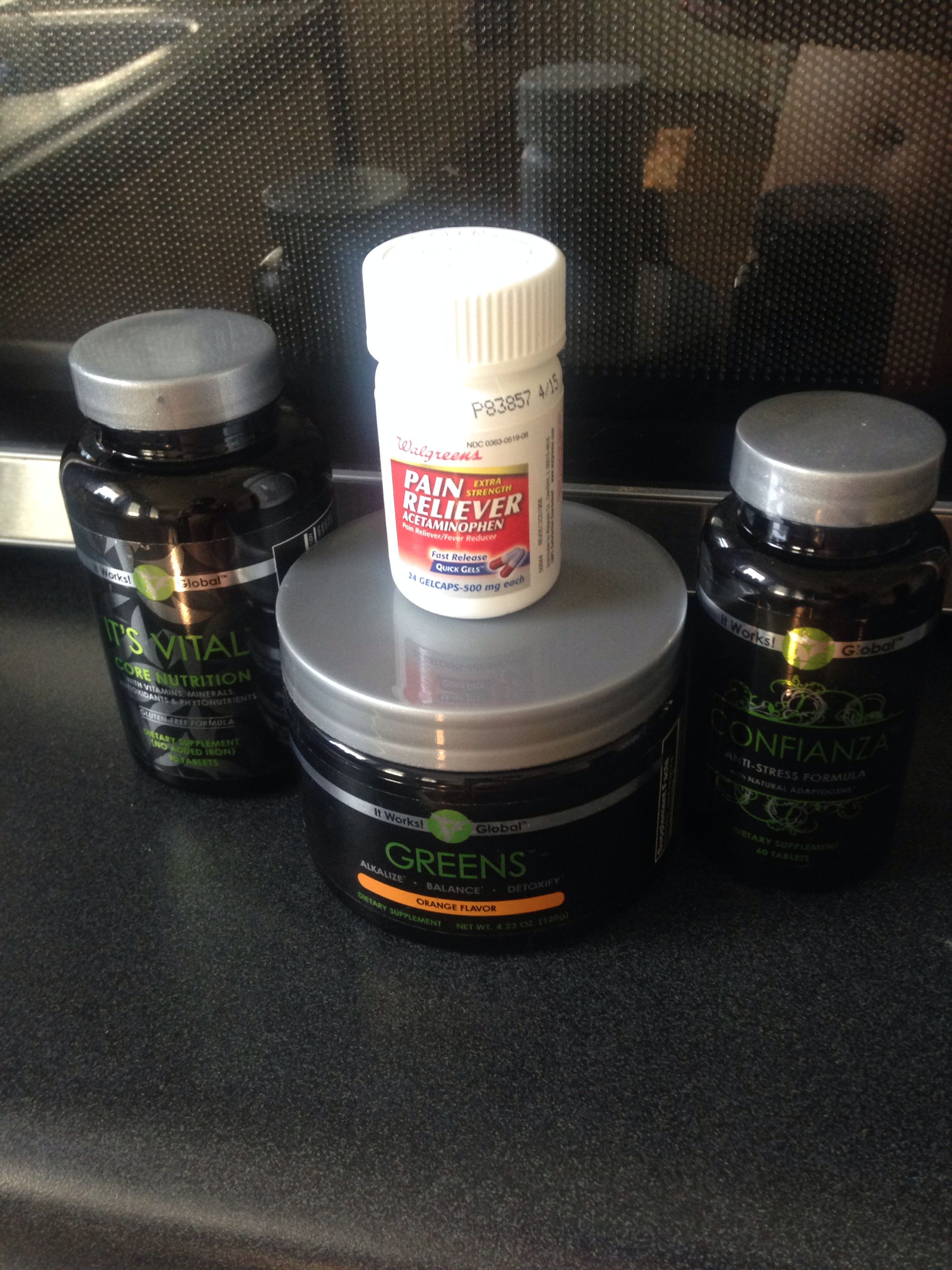 My Hangover Kit   My life saver!! ItWorks Greens in orange