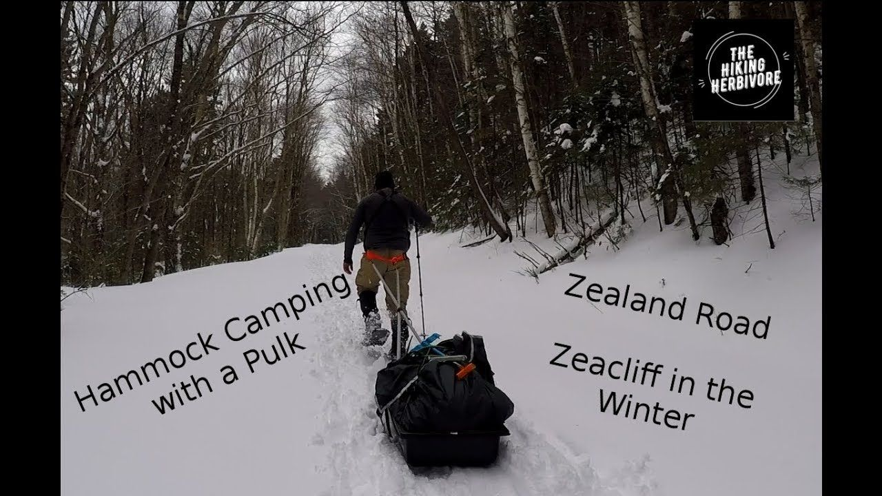 Zealand mountain winter hammock camping with a pulk