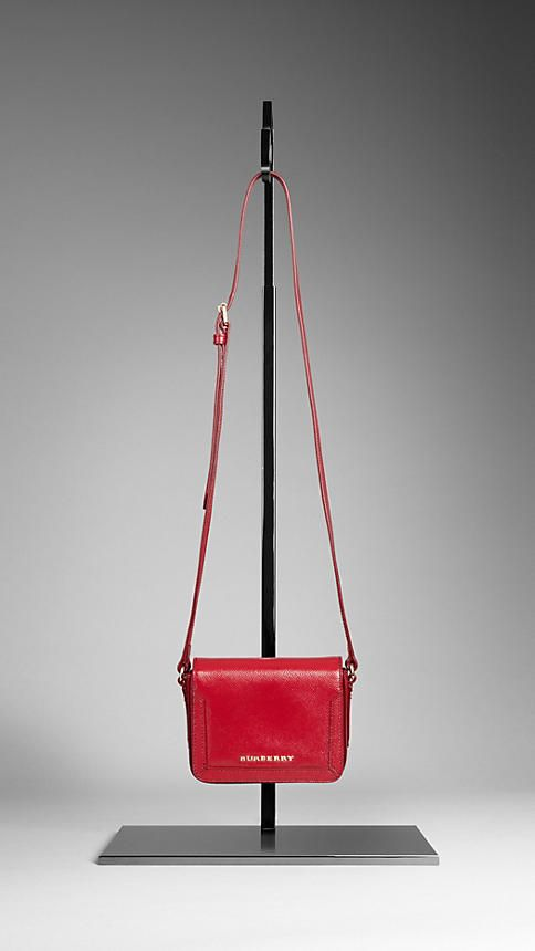 7f1b3b7f1dea burberry  patent london leather crossbody bag  alizarin crimson