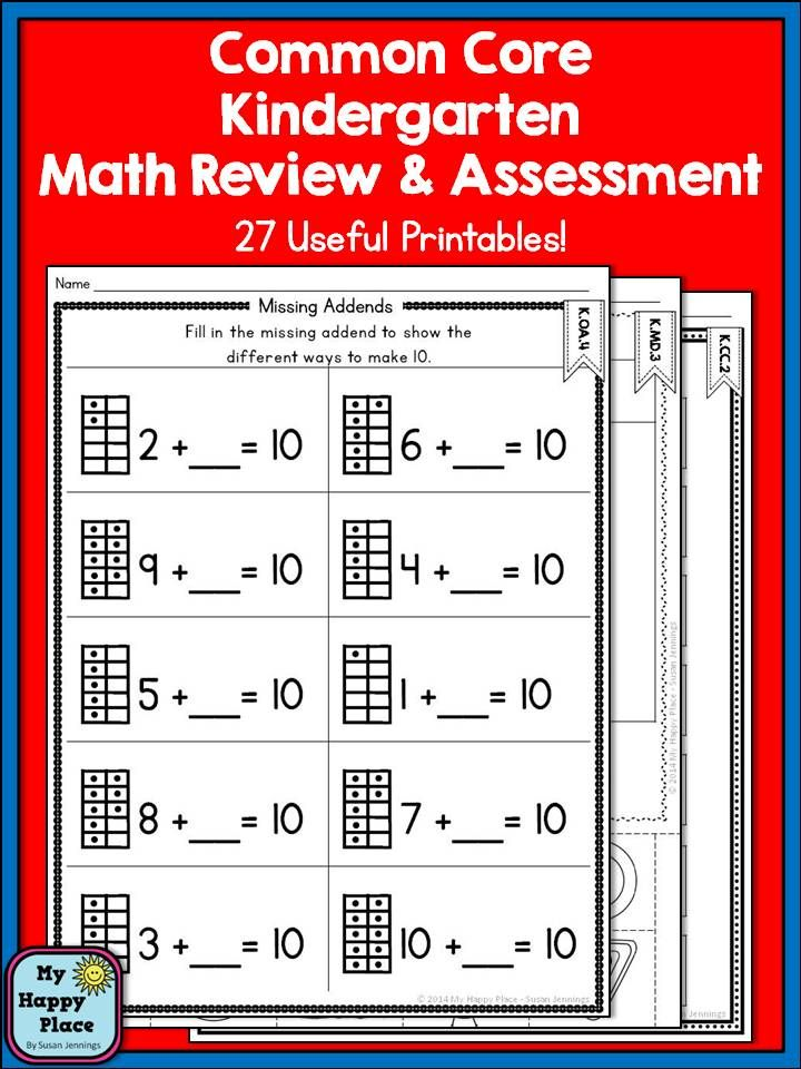 Kindergarten Math Review and Assessment | Kind