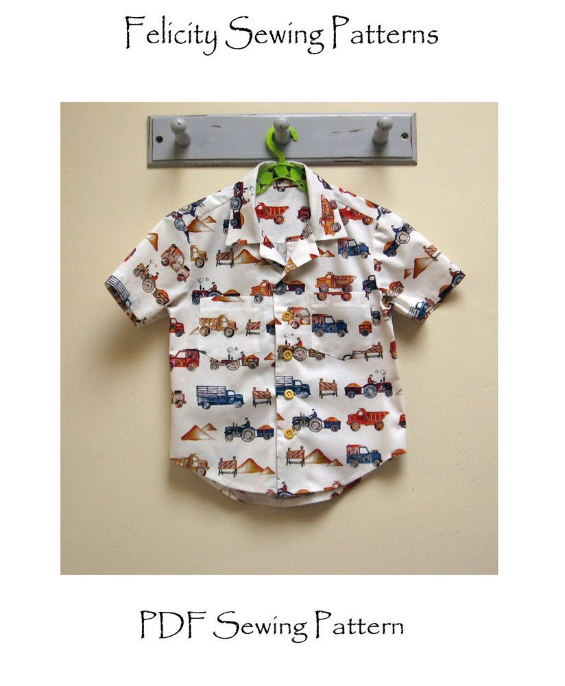 Boy\'s Hawaiian shirt sewing pattern for kids 2-14 years. THOMAS ...