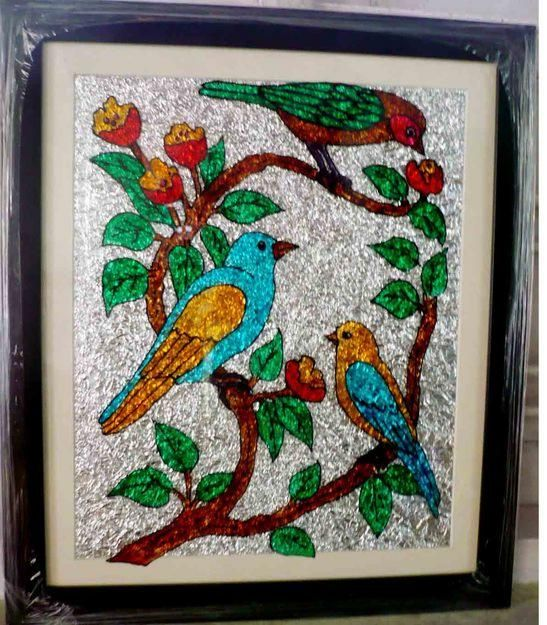 Captivating Free Hand Design Painting On Glass