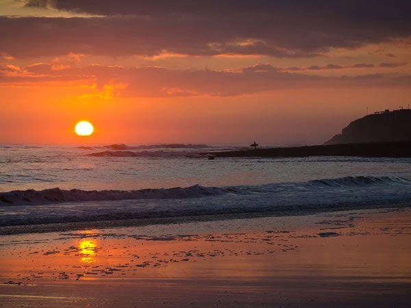 Santa Cruz Ca Beach Sunset Wallpaper Sunset Wallpaper Beach Wallpaper