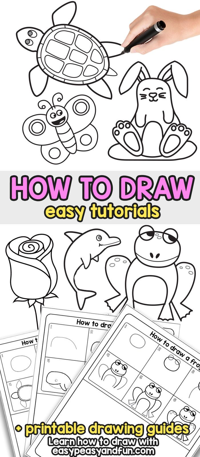 How to Draw - Step by Step Drawing For Kids and Beginners   Boys ...