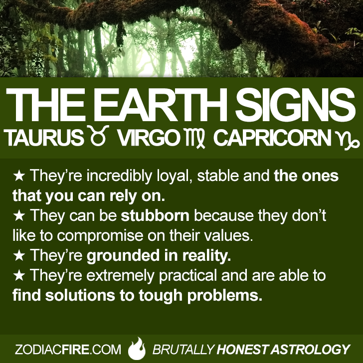 Zodiac insights into the personalities of the EARTH signs