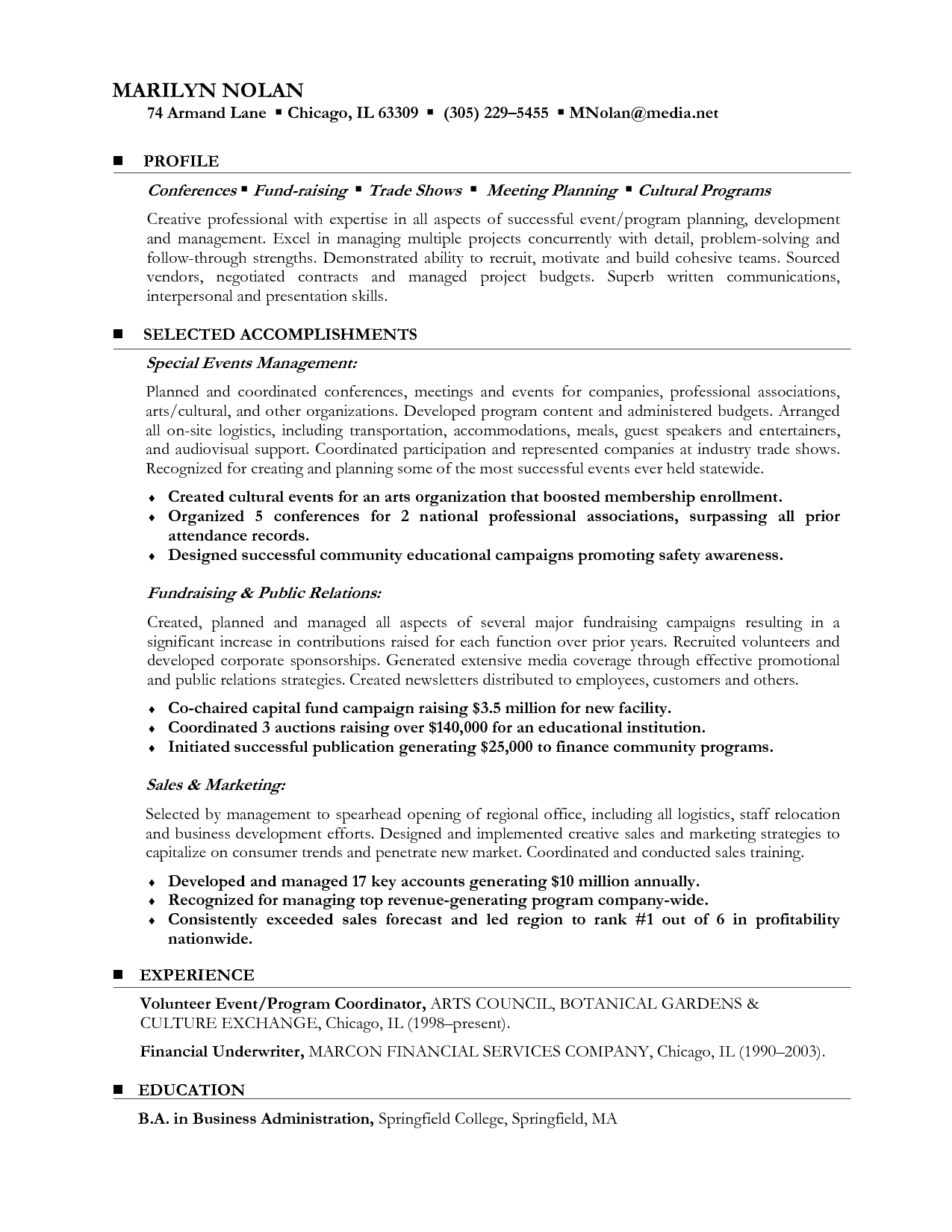 Resume Examples Career Change   Resume examples and Change