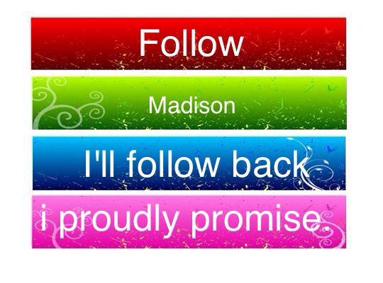 Please Follow! Thank you!