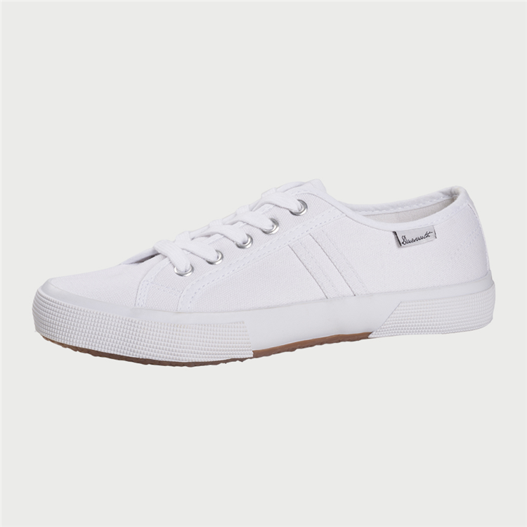 ca59f74061d27 Duesouth Women s Nel Canvas Lace Up Sneaker White
