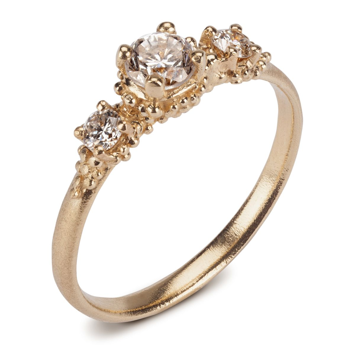 triple cluster diamond ring | contemporary rings by contemporary