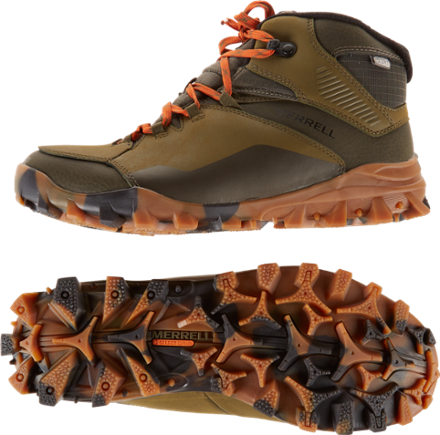 58a5563b7e9 Merrell Men's Fraxion Thermo 6 Waterproof Winter Boots Clay 11.5 ...