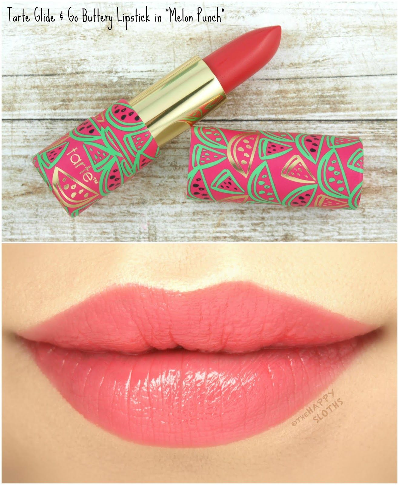 Tarte Double Duty Beauty Glide Go Buttery Lipstick In Melon Punch Review And Swatches Lip Colors Lipstick Lipstick Kit