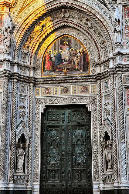 Florence Duomo Main Door At Santa Maria Del Fiore