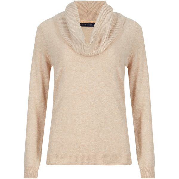 M&S Collection Pure Cashmere Cowl Neck Jumper ($84) ❤ liked on ...