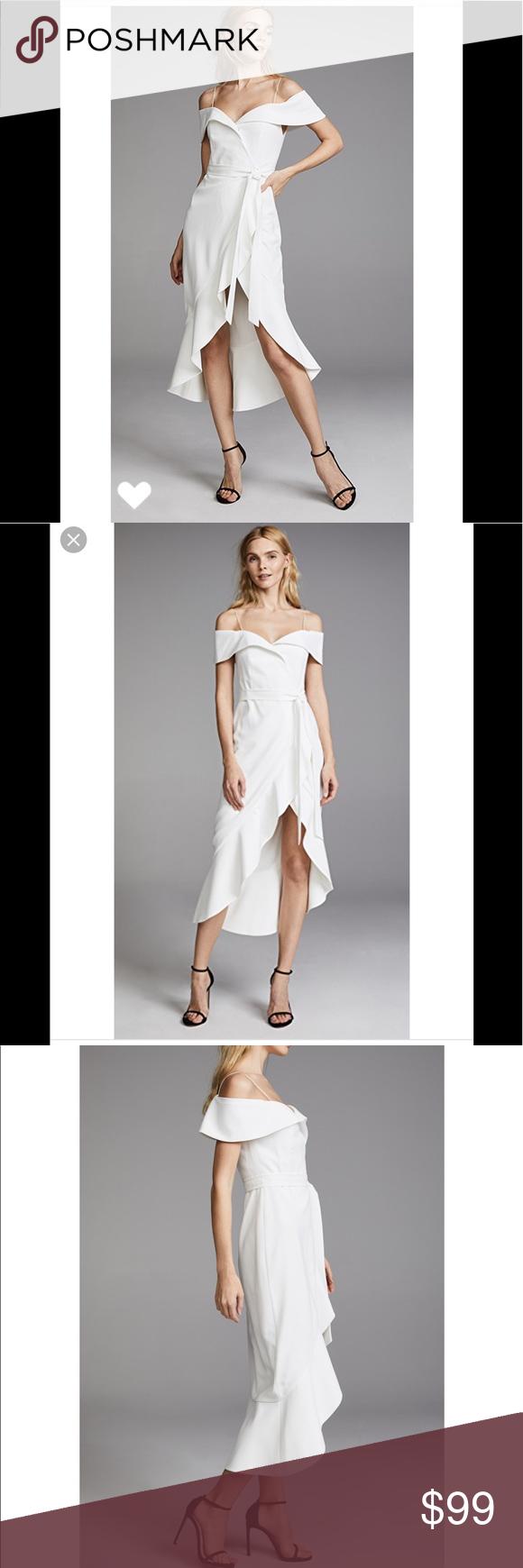 717237090a Alice & Olivia Josie cream wrap white dress Sz 4 alice + olivia Josie  Off
