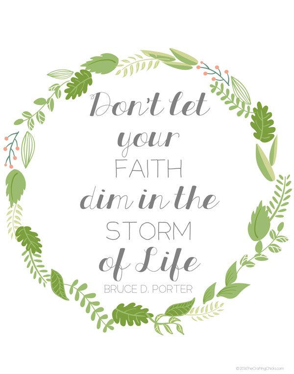 Having Faith In The Storm Of Life Live It Love It LDS Simple Lds Quotes On Faith