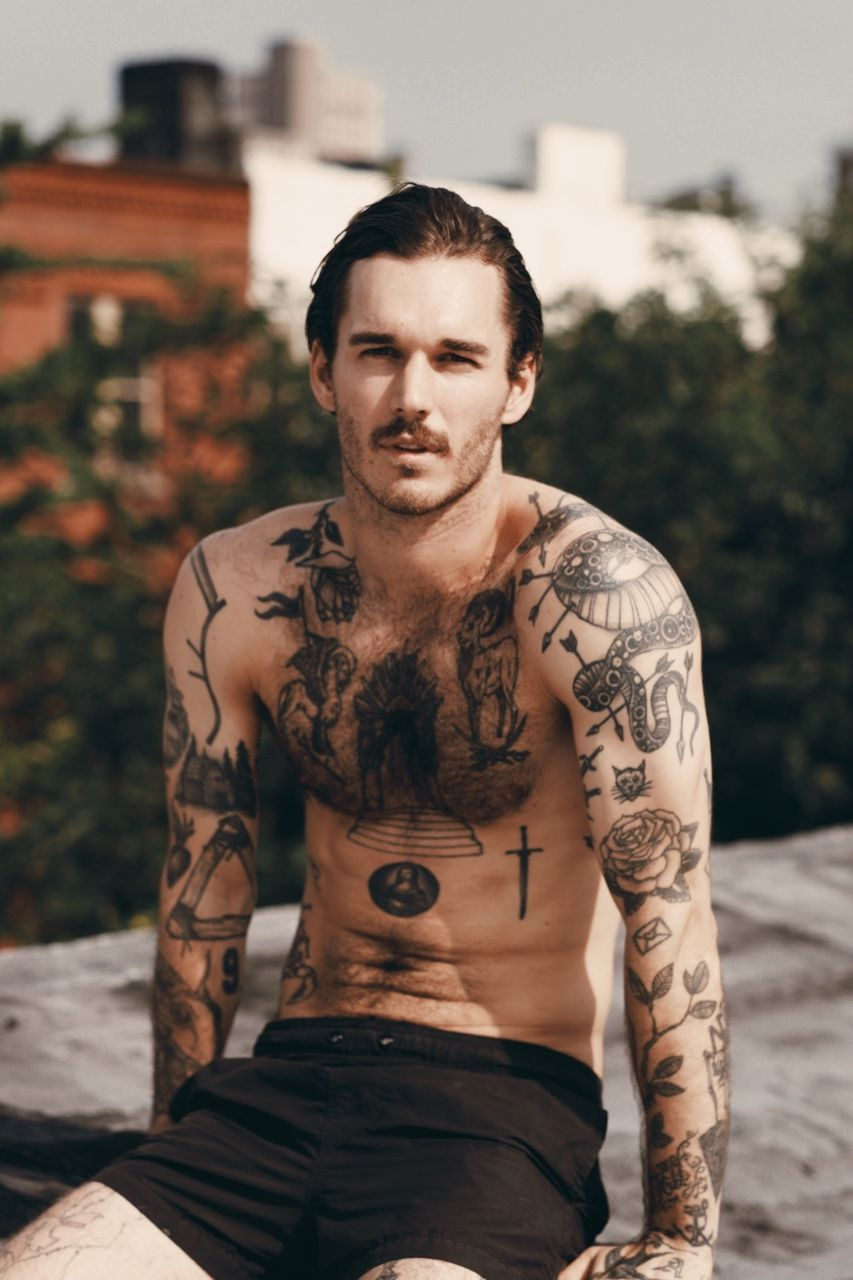 Vispreeve Model David Alexander Flinn Favoritos Tatuagem