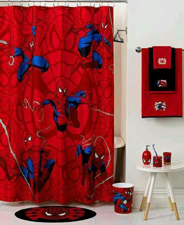 Spiderman Bathroom With Images Superhero Bathroom Decor