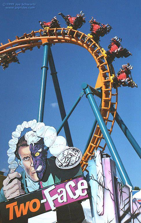 Two Face Invertigo Six Flags America Largo Maryland Usa Roller Coaster Ride Best Roller Coasters Amusement Park Rides