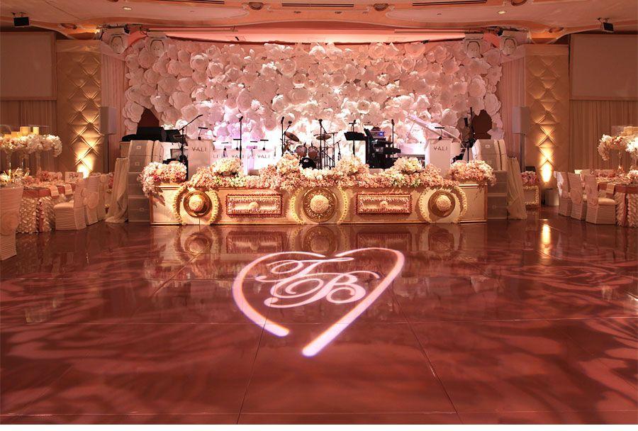 Rose Gold Wedding Ideas For Ceremony Reception Décor: Romantic Rose Gold Wedding. Pink Lighting, Wedding