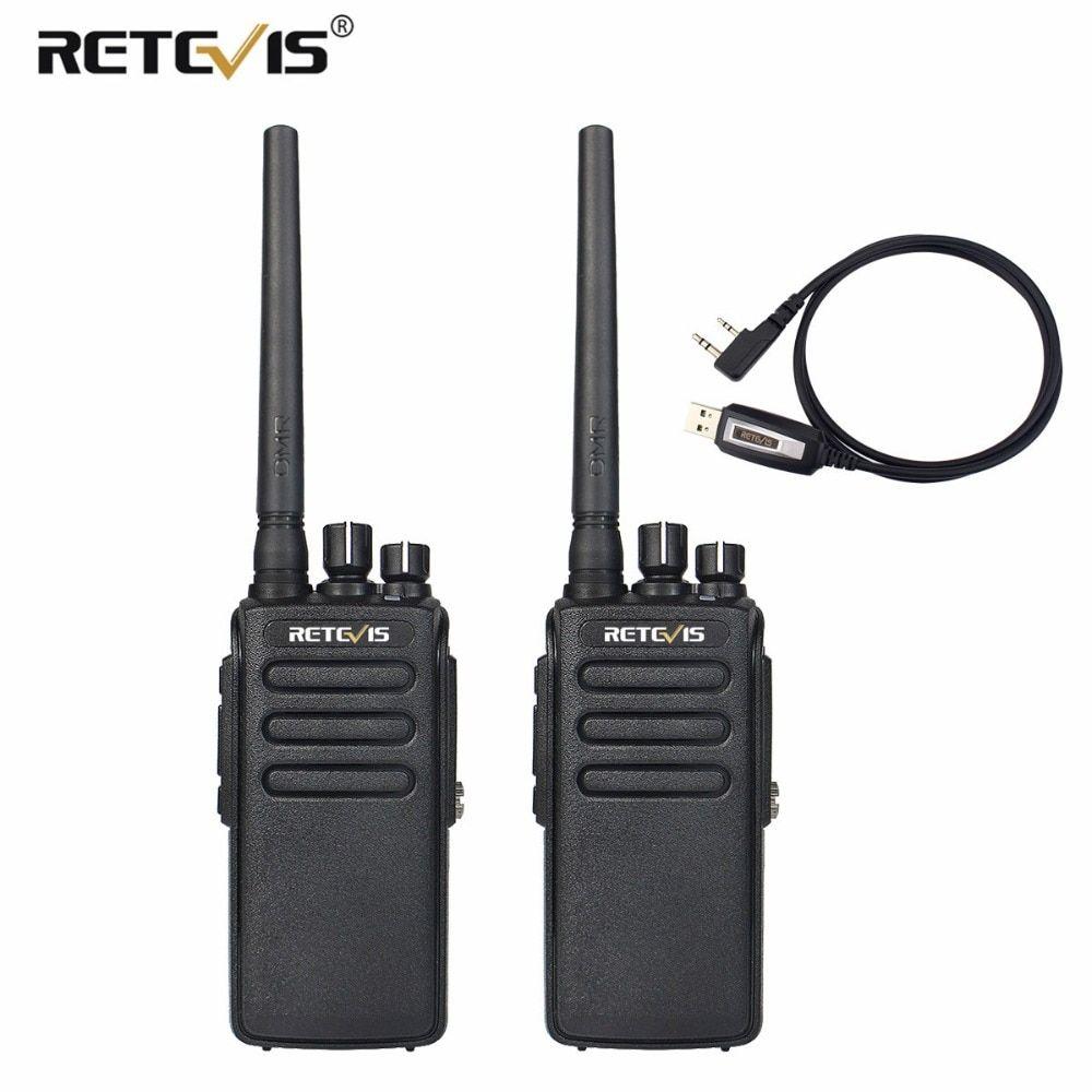 2pcs Retevis RT81 10W Walkie Talkie DMR Digital Radio IP67
