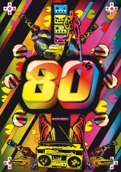 80s Inspired Poster Art 80s Music Videos Pop Art Girl Pop Art