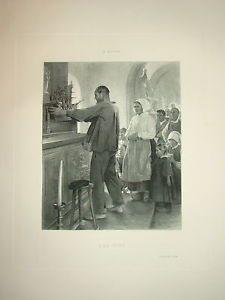 Gravure-H-ROYER-EX-VOTO-1898-MAQUETTE-BATEAU-MARIN-EGLISE-SAINTE-VIERGE-MARIE