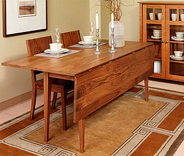 Dining room table. Farmers drop leaf table 6ft long  30  tall  21 25  deep  with